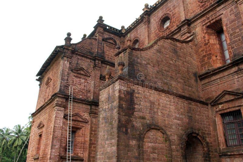 De Basiliek van Bom Jesus die van Oude Goa Goa Velha, BO huisvesten royalty-vrije stock afbeeldingen