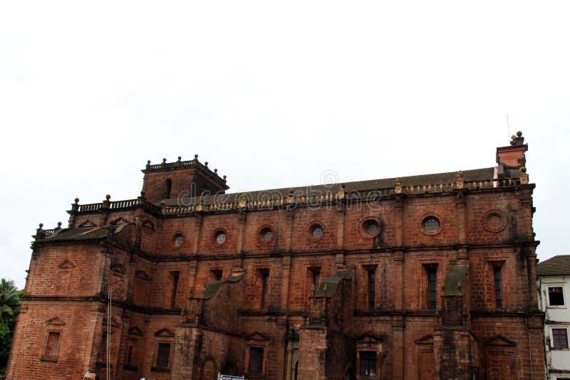De Basiliek van Bom Jesus die van Oude Goa Goa Velha, BO huisvesten stock fotografie