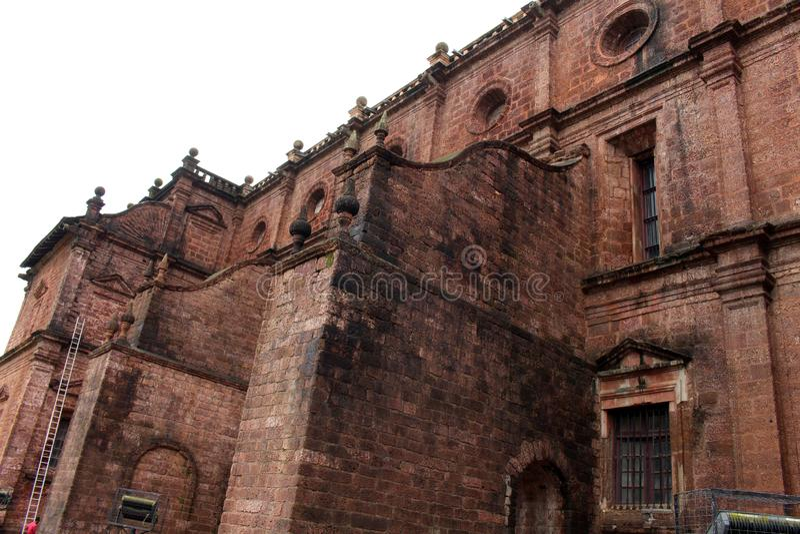 De Basiliek van Bom Jesus die van Oude Goa Goa Velha, BO huisvesten royalty-vrije stock foto