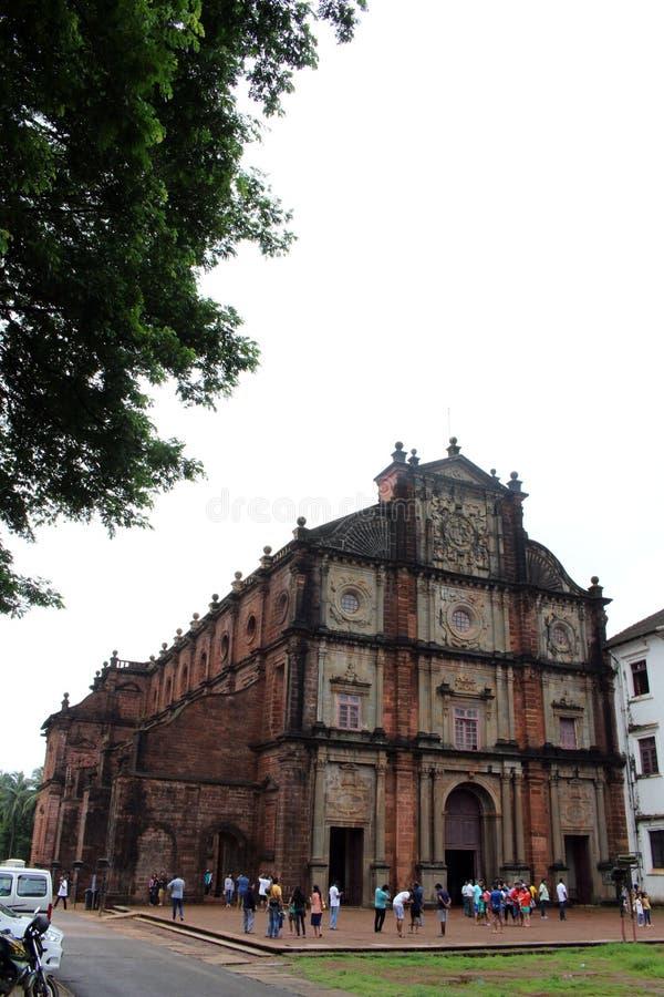De Basiliek van Bom Jesus die van Oude Goa Goa Velha, BO huisvesten stock foto