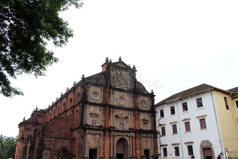 De Basiliek van Bom Jesus die van Oude Goa Goa Velha, BO huisvesten stock afbeelding