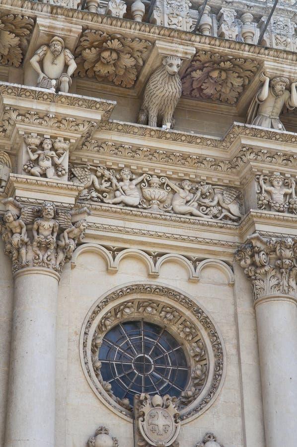 De Basiliek van Croce van de kerstman. Lecce. Puglia. Italië. royalty-vrije stock fotografie