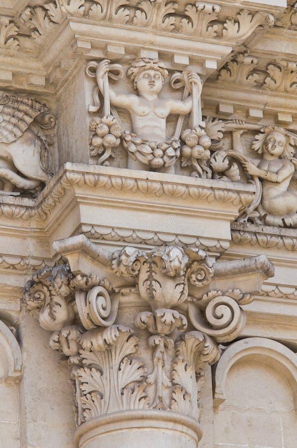 De Basiliek van Croce van de kerstman. Lecce. Puglia. Italië. royalty-vrije stock afbeelding