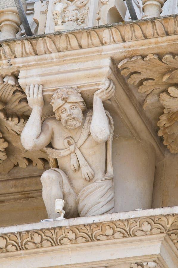 De Basiliek van Croce van de kerstman. Lecce. Puglia. Italië. stock fotografie