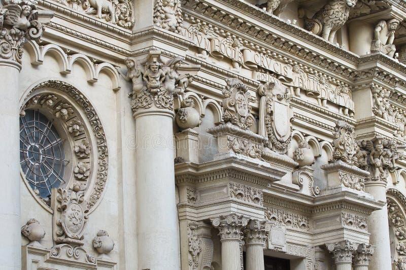 De Basiliek van Croce van de kerstman. Lecce. Puglia. Italië. royalty-vrije stock afbeeldingen