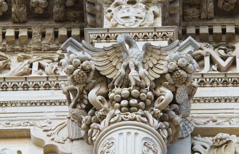 De Basiliek van Croce van de kerstman. Lecce. Puglia. Italië. royalty-vrije stock foto's
