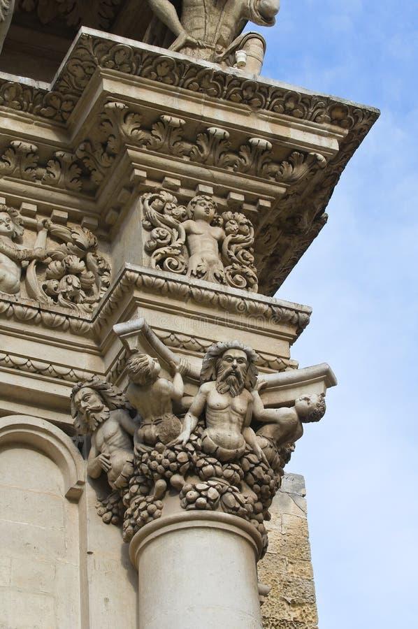 De Basiliek van Croce van de kerstman. Lecce. Puglia. Italië. stock afbeelding