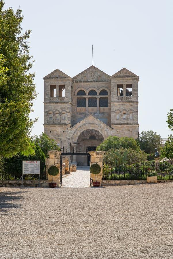De basiliek van de Transfiguratie zet Tabor op israël royalty-vrije stock foto