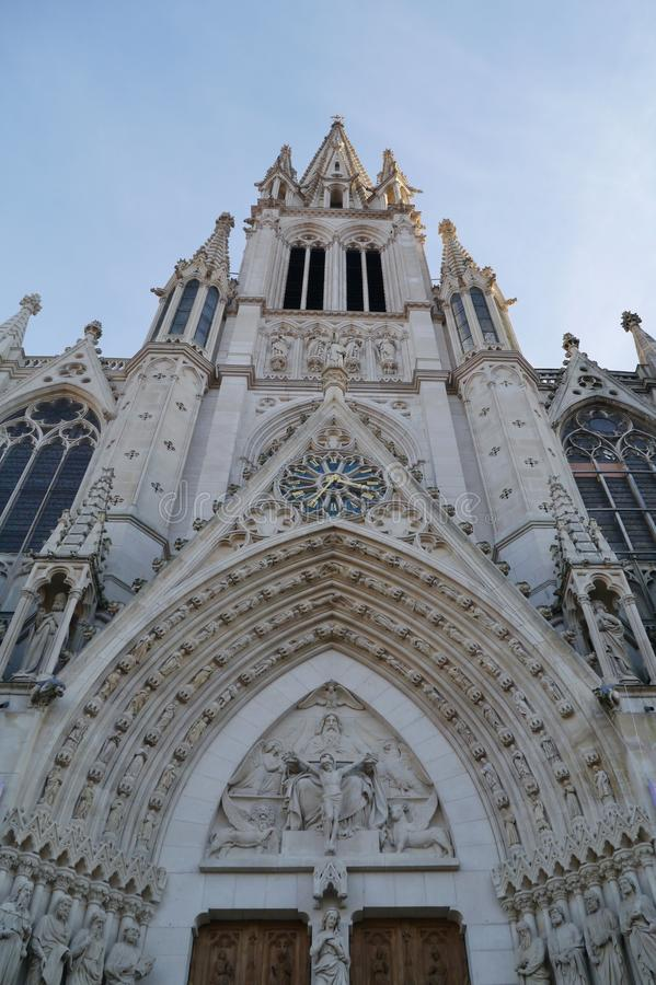 De basiliek van heilige Epvre in Nancy stock afbeeldingen