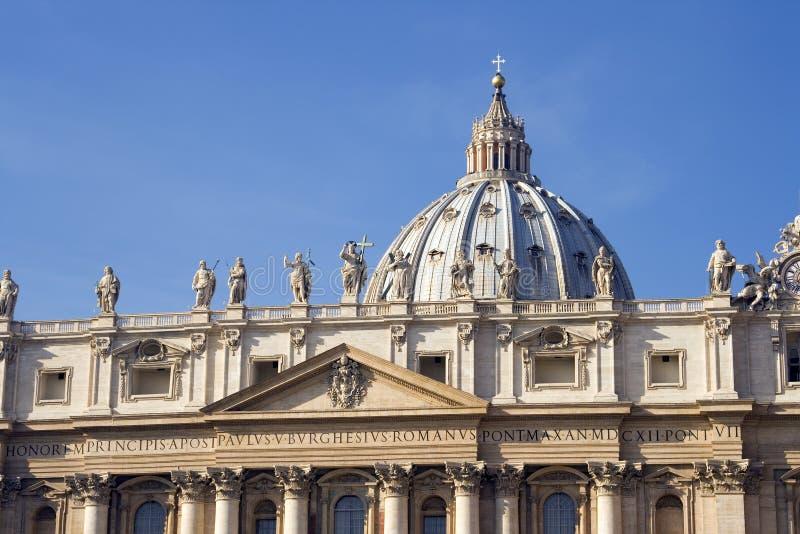 De Basiliek van heilige Peters stock foto