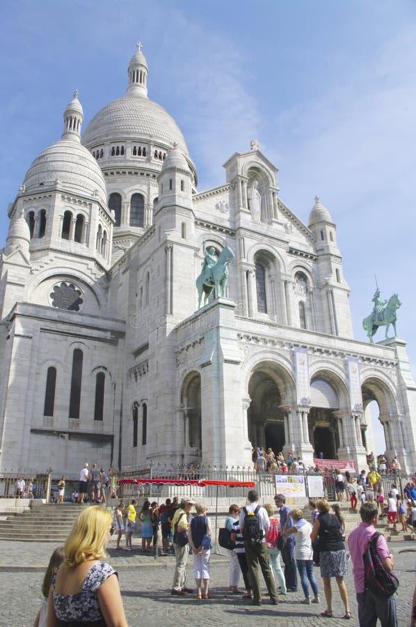 De Basiliek van het Heilige Hart in Parijs stock afbeelding
