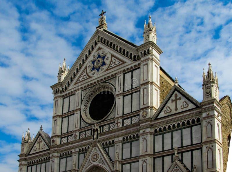 De basiliek van het Heilige Kruis in Florence, Italië royalty-vrije stock afbeeldingen