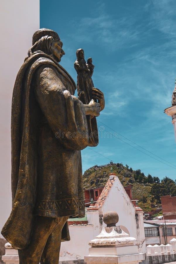 De basiliek van onze dame van Copacabana in Bolivië royalty-vrije stock foto's