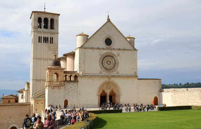 De Basiliek van San Francesco stock foto