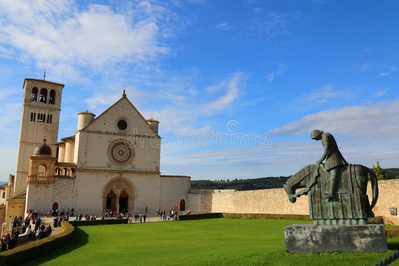 De Basiliek van San Francesco stock fotografie