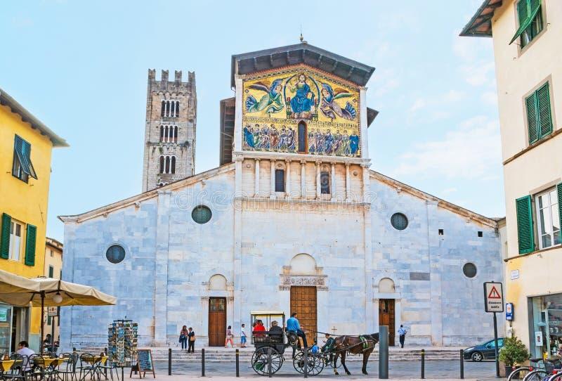 De Basiliek van San Frediano royalty-vrije stock foto's