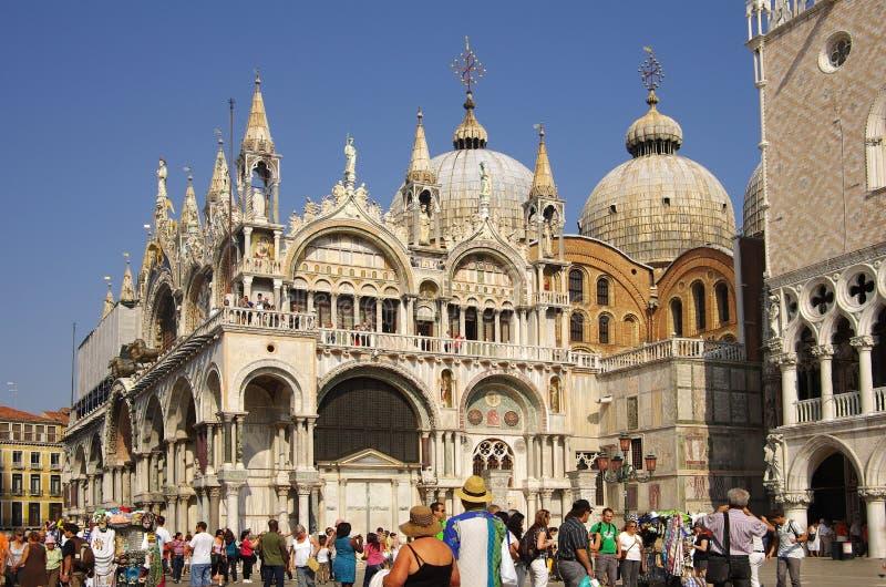 De basiliek van San Marco stock foto's