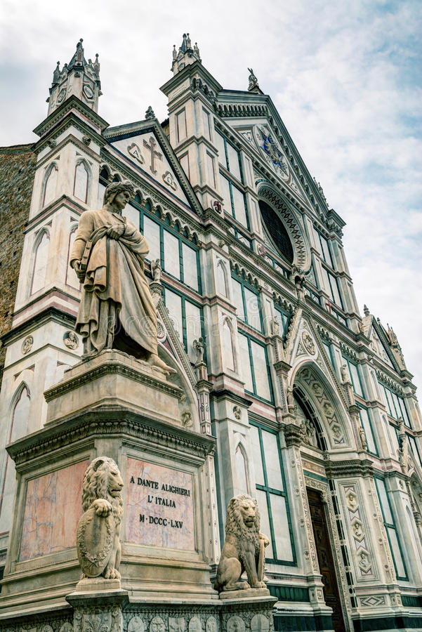 De Basiliek van Santa Croce in Florence, Italië royalty-vrije stock fotografie