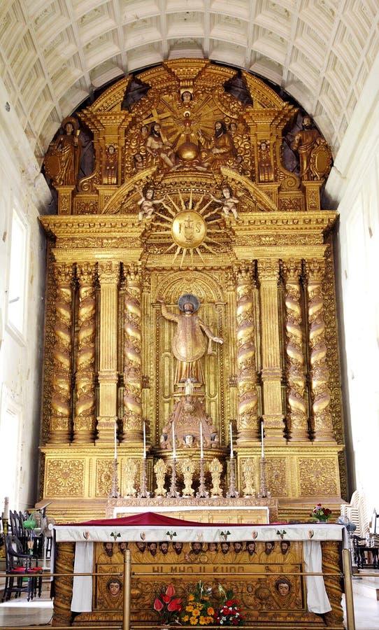De basiliekkerk houdt de dodelijke overblijfselen van St Francis royalty-vrije stock foto's