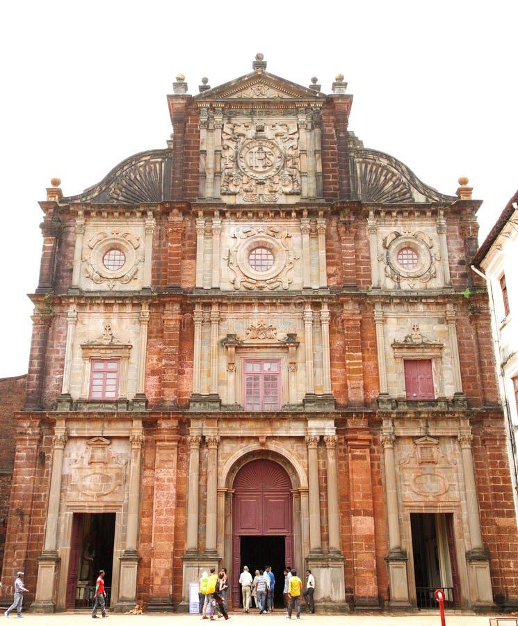 De basiliekkerk houdt de dodelijke overblijfselen van St Francis royalty-vrije stock afbeeldingen