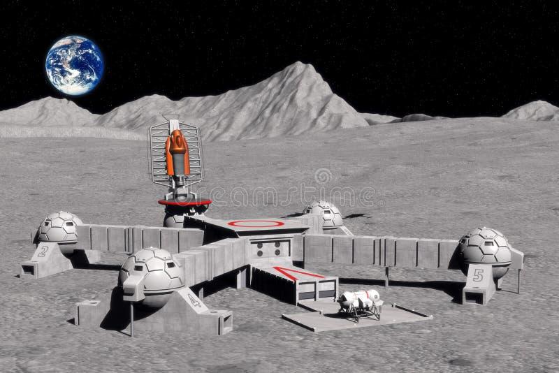 De basis van de maan vector illustratie