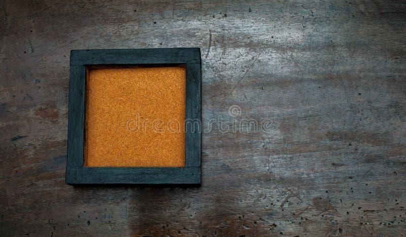 De basis van de Zentuin met oranje zand stock afbeelding