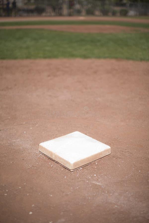 De basis van het honkbal royalty-vrije stock afbeelding