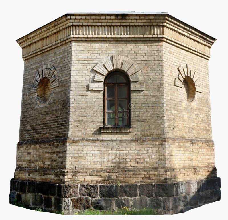 De basis voor oude retro wordt geen toren van het naamwater gemaakt van yello royalty-vrije stock foto's