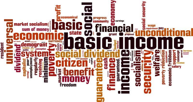 De basiswolk van het inkomenswoord vector illustratie