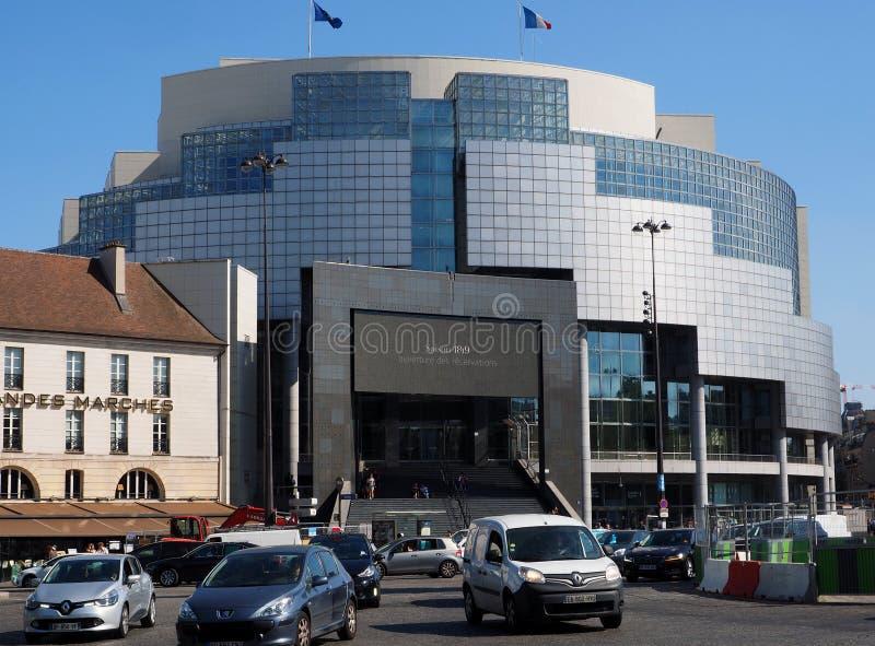 De Bastille-Opera in Parijs royalty-vrije stock foto's