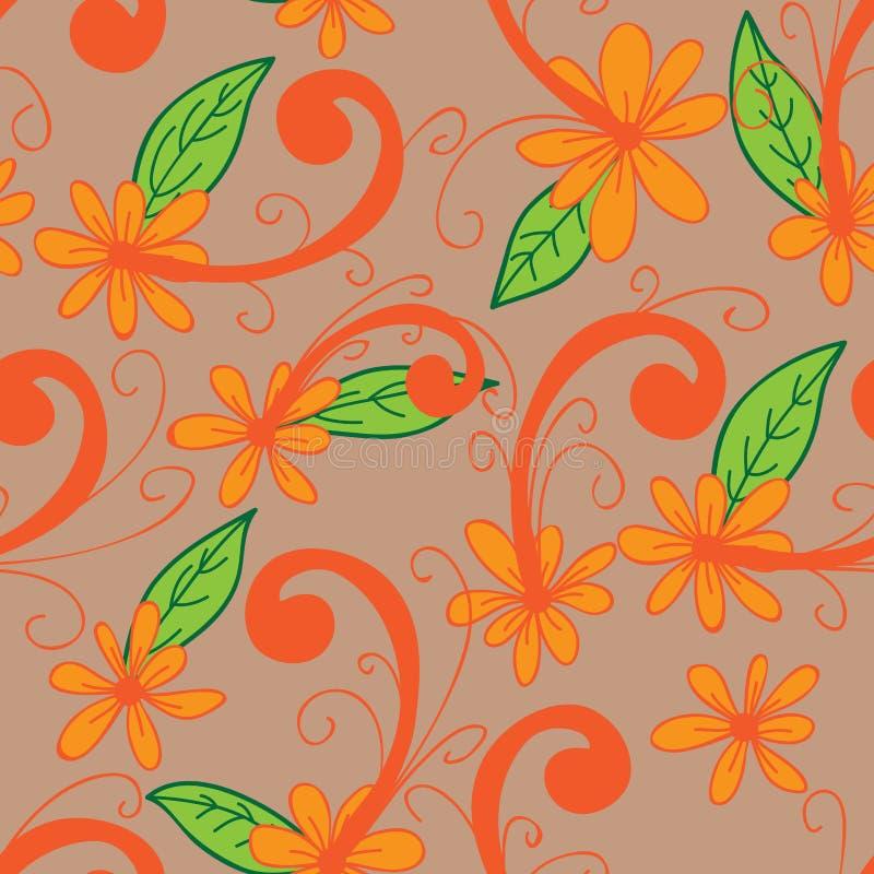 De batik naadloos patroon van het bloemoverhemd vector illustratie