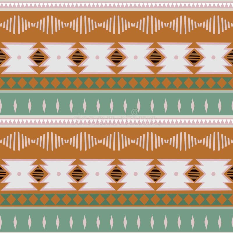 De batikornament van de Ikat geometrisch folklore Stammen etnische vectortextuur Naadloos gestreept patroon in Azteekse stijl Cij stock illustratie
