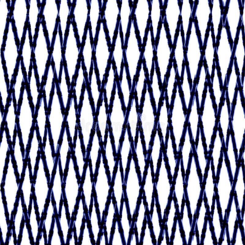 De de batiktextuur van de bandkleurstof herhaalt modern patroon stock illustratie