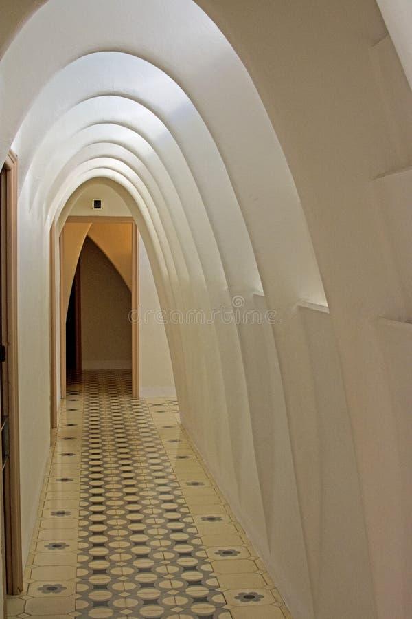 ³ de Batllà de la casa, Barcelona (Corrdior interno) fotografía de archivo libre de regalías