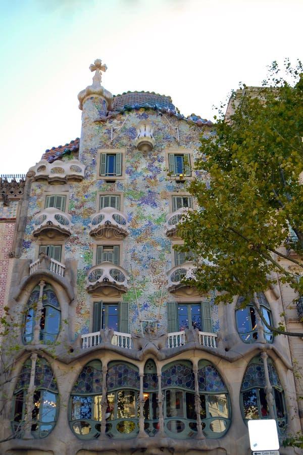 ³ de Batllà de maison de Barcelone photographie stock libre de droits