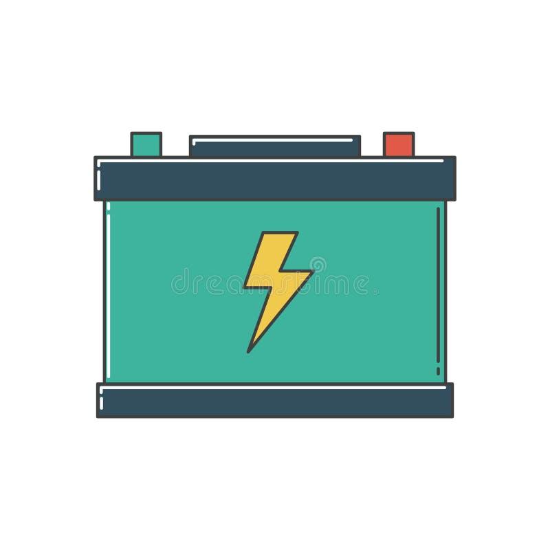 De batterij van de auto stock illustratie