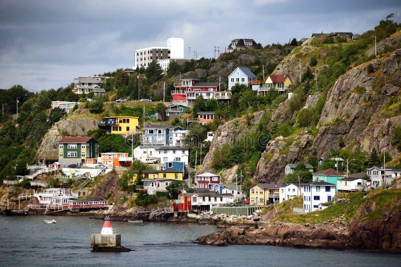 De Batterijbuurt in St John's Newfoundland stock foto's
