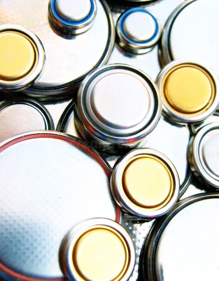De batterijen van het lithium royalty-vrije stock foto's