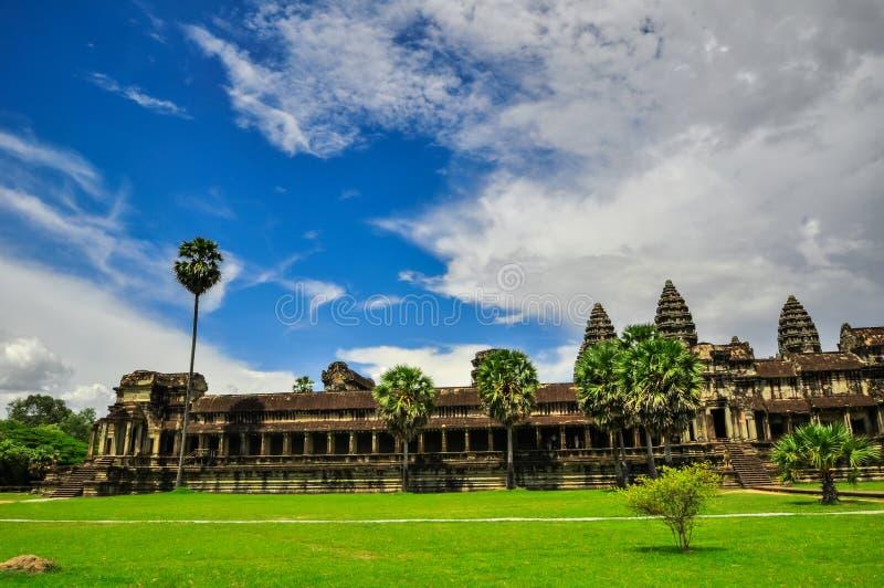 De Bayontempel en Angkor Wat Khmer complex in Siem oogsten, Kambodja royalty-vrije stock afbeeldingen