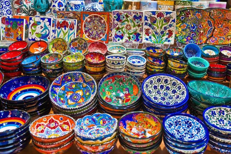 De Bazaar van het kruid in Istanboel stock foto's