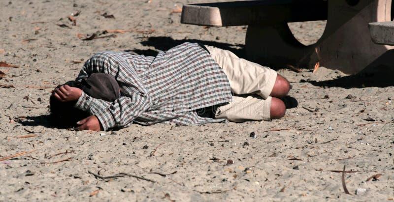 De Bedelaar van het strand stock foto's