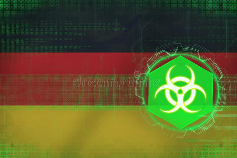 De bedreiging van Duitsland biohazard Biologisch gevaarconcept stock illustratie
