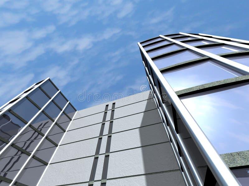 De bedrijfs bouw stock illustratie