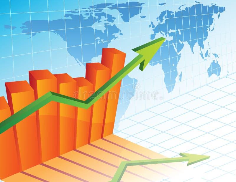 De bedrijfs groei royalty-vrije illustratie