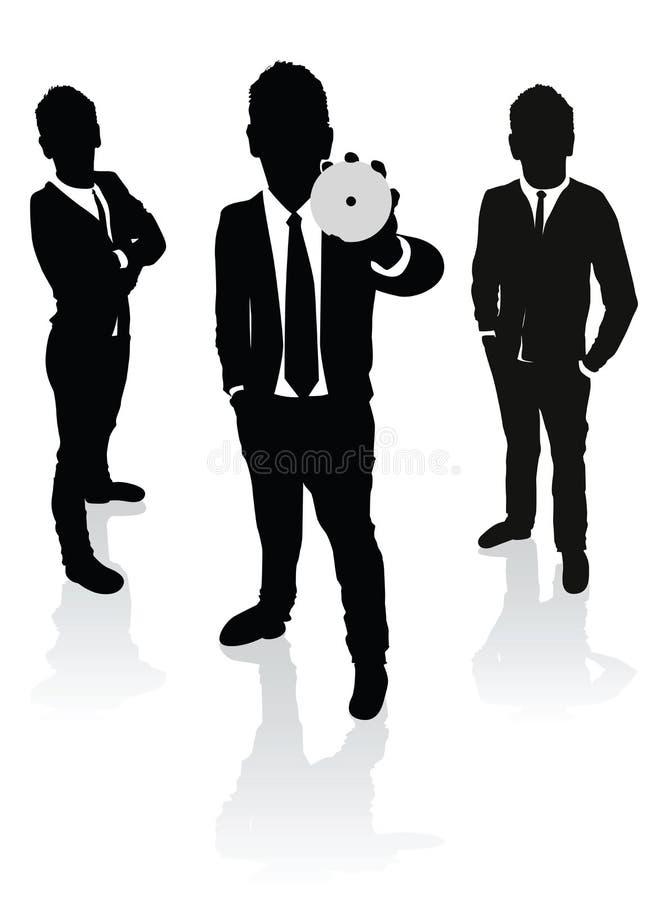 Download De Bedrijfs Mensen Beduimelen Omhoog Vector Illustratie - Illustratie bestaande uit voorwerp, internet: 29500718