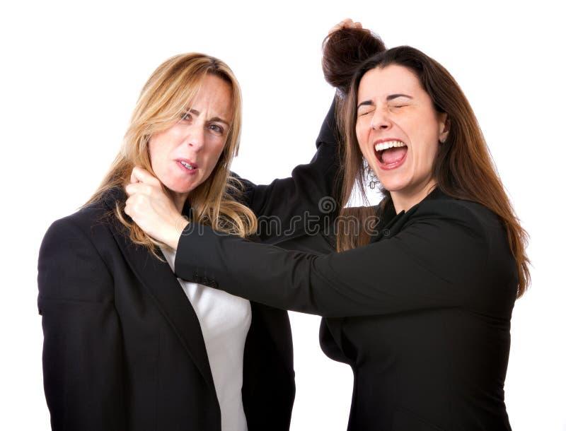 De bedrijfs vrouwenconcurrentie royalty-vrije stock afbeeldingen