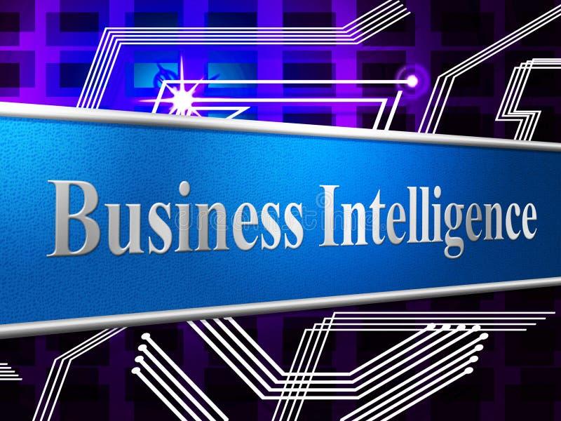 De bedrijfsintelligentie vertegenwoordigt Intellectuele Capaciteit en Capaciteit royalty-vrije illustratie
