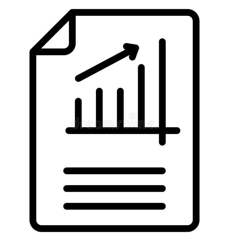 De bedrijfskunde isoleerde Vectorpictogram dat zich gemakkelijk kan wijzigen of uitgeven stock illustratie