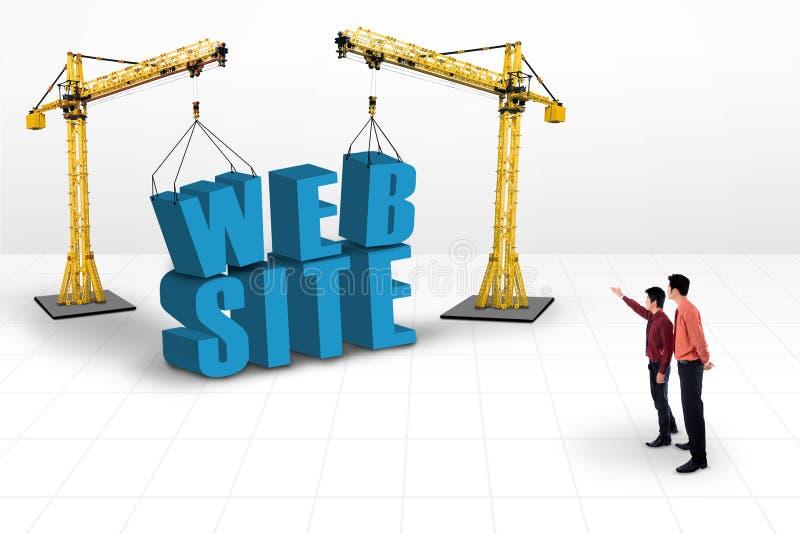 Bedrijfsleider die websiteontwikkeling richten stock illustratie