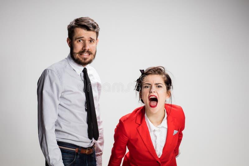 De bedrijfsman en de vrouw stock afbeeldingen